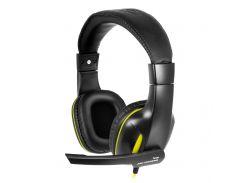 Наушники Gemix W-390 Black/Yellow, 2 x Mini jack (3.5 мм), накладные, кабель 2.4 м