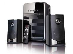Колонки 2.1 Gemix SB-110 Black, сателлиты 2 x 18 Вт, сабвуфер 50 Вт, МДФ, USB ридер/SD/MicroSD, питание от сети 220V, управление спереди + пульт ДУ