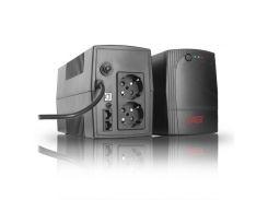 ИБП EAST EA-800U Schuko Black, 800VA, 480W, линейно-интерактивный, 2 розетки (Schuko), 12В/8Ач x 1 шт