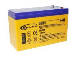 Батарея для ИБП 12В 7Ач Gemix GB1207 151х65х94 мм