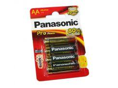 Батарейка AA (LR6), щелочная, Panasonic Pro Power, 4 шт, 1.5V, Blister (LR6XEG/4BP)