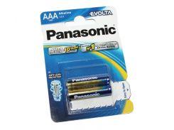 Батарейка AAA (LR03), щелочная, Panasonic Evolta, 2 шт, 1.5V, Blister (LR03EGE/2BP)