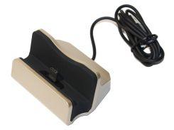 Док-станция, подставка Type-C, встроенный кабель USB, Gold