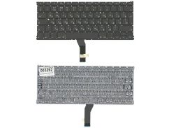 Клавиатура для ноутбука APPLE (MacBook Air: A1369, A1466 (2011-2017)) rus, black, BIG Enter