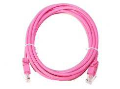 Патч-корд 3 м, UTP, Pink, Cablexpert, литой, RJ45, кат.5е (PP12-3M/RO)