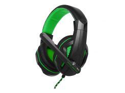 Наушники Gemix X-370 Gaming Black/Green, 2 x Mini jack (3.5 мм), накладные, кабель 2.4 м
