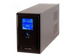 ИБП LogicPower LPM-L1100VA 1000 ВА / 770 Вт, 2 розетки, 5 ступ. AVR, 2х12V/7,5Ah. черный корпус