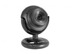 Web камера Defender G-lens C-2525HD Black, 2Mp, USB2.0, 640x480, микрофон