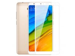 Стекло экрана Xiaomi Redmi 5 Plus белое