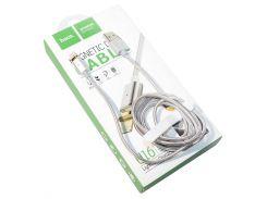 Кабель USB  Lightning, Hoco U16, магнитный, Space Grey