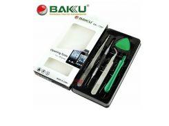 Набор отверток Baku BK-7285 для IPhone двухстороння отвертка *0, 8,  +1, 2,  2 пинцета прямой и изог