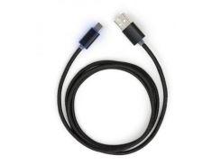 Дата кабель USB 2.0 AM to Type-C 1m LED black Vinga (VCPDCTCLED1BK)