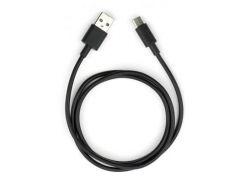 Дата кабель USB 2.0 AM to Type-C PVC 1m black Vinga (VCPDCTC1BK)