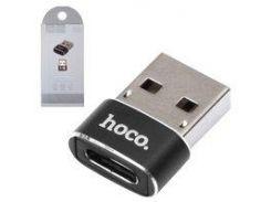Адаптер USB - USB Type-C Hoco UA6, черный
