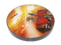 """Диск DVD-R 10 Videx """"Звонок"""", 4.7Gb, 16x, Bulk Box"""