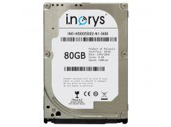 """Жесткий диск 2.5"""" 80Gb i.norys, SATA2, 8Mb, 5400 rpm (INO-IHDD080S2-N1-5408)"""