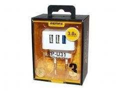 """Сетевое зарядное устройство Remax """"Moon-Charger Plus"""", White, 3xUSB, 1 x 2.1A, 2 x 1A (RP-U31)"""