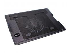 """Подставка для ноутбука до 17"""" Notebook Cool Pad DX-738, Black, 14 см вентилятор (15 dBA, 700-1400 rpm), Blue LED, регул. угол наклона, 370х265х33 мм,"""
