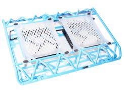 "Подставка для ноутбука до 17"" Notebook Cool Pad DCX-009, Blue, 2x12 см вентиляторы, Blue LED, 383х285х50 мм, 750 г"