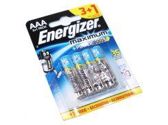 Батарейка AAA (LR03), щелочная, Energizer Plus, 4 шт, 1.5V, Blister Box