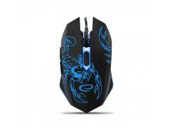 Мышь Esperanza MX203 (EGM203B) Black/Blue, Optical, USB, 2400 dpi, подсветка