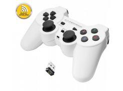 Геймпад Esperanza Gladiator GX600, White, беспроводной (2.4GHz), USB, вибрация, для PC/PS3, 2 аналоговых стика, 12 кнопок (EG108W)