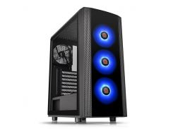 Корпус Thermaltake Versa J25 Tempered Glass RGB Edition, Black, Mid Tower, без БП, для ATX / Micro ATX / Mini ITX, ATX PSU, 461 x 206 x 402 мм, 6,2 кг