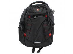 "Рюкзак для ноутбука 16"" Continent BP-303BK, Black, нейлон/полиэстер, 38,8 x 24 x 3,7 см"