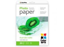 Фотобумага ColorWay, матовая, двухсторонняя, Letter (LT), 220 г/м2, 20 л (PMD220020LT)