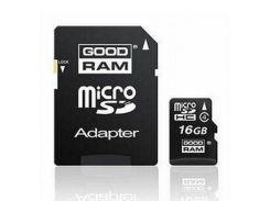 Карта памяти GOODRAM 16Gb microSDHC class 4 (SDU16GHCAGRR10 / M40A-0160R11)
