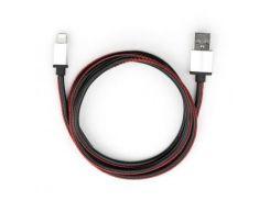 Дата кабель USB 2.0 AM to Lightning 1m pu leather black Vinga (VCPDCLLS1BK)