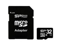 Карта памяти Silicon Power 32Gb microSDHC class 6 (SP032GBSTH006V10-SP)