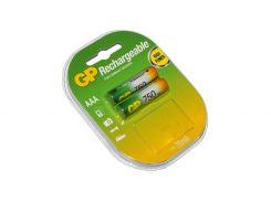 Аккумулятор AAA, 750 mAh, GP, 2 шт, 1.2V, Blister (GP75AAAHC-2UEC2)