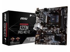 Мат.плата AM4 (A320) MSI A320M PRO-M2 V2, A320, 2xDDR4, Int.Video(CPU), 4xSATA3, 1xM.2, 1xPCI-E 16x 3.0, 2xPCI-E 1x 2.0, ALC887, RTL8111H,