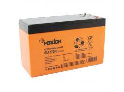 Батарея для ИБП 12В 7Ач Merlion, GL1270F2 GEL, ШхДхВ 65х150х95