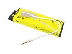 Переходник звуковой 3.5мм папа / мама 2 x 3.5 мм 0.1м, Remax (RL-S20), Gold