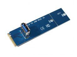 Адаптер Dynamode NGFF M.2 Male to USB 3.0 Female для PCI-E 1X