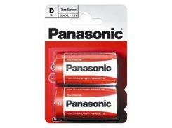 Батарейка PANASONIC D R20 RED ZINK * 2 (R20REL/2BPR)