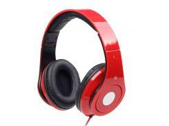 """Гарнитура Gmb audio MHS-DTW-R Red, 2 x Mini jack (3.5 мм), накладные, две пары амбушюр, серия """"Детройт"""""""