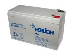 Батарея для ИБП 12В 7.2Ач Merlion / GP1272F2 / ШхДхВ 65х151х100 / White