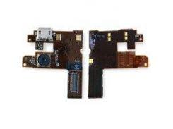 Шлейф Nokia 6500c, коннектора зарядки, динамика, с компонентами, с камерой