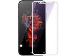 Стекло iPhone X,XS (0.3 мм, 5D) белый, без упаковки