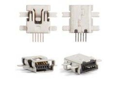Коннектор зарядки Motorola E2, E6, E8, L2, L6, L7, U6, V3, V3i, W5, 5 pin, mini-USB тип-B