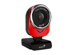 Web камера Genius QCam 6000 Full HD Red, 2.0 Mpx, 1920x1080, USB 2.0, встроенный микрофон
