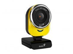 Web камера Genius QCam 6000 Full HD Yellow, 2.0 Mpx, 1920x1080, USB 2.0, встроенный микрофон