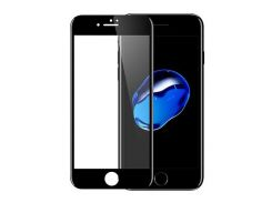 Защитное стекло iPhone 7/ 8 черное (небьющиеся)