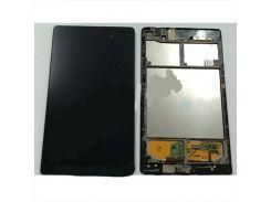 Дисплей Asus ME571K Google Nexus 7 NEW с сенсором чёрный (2 поколение 2013) 3G + рамка