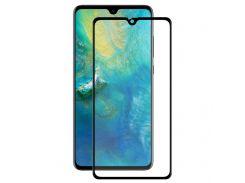 Защитное стекло Huawei Mate 20 2.5D Full Screen чёрное(тех упаковка)