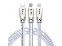 USB кабель Hoco U9 Jelly Knitted Micro USB (1200mm),  сталь