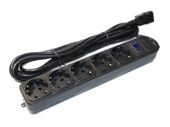 Фильтр сетевой 4.5 м Merlion UPS B545 Black, 220В 10А, 5 розеток, сечение 3х0,75мм, Q30